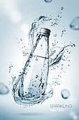 물 (자연현상), 깨끗함, 깨끗함 (좋은상태), 투명 (비침), 시원함 (컨셉), 포스터, 유리물병 (서빙도구)
