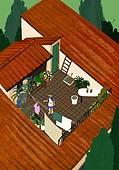 별장 (건설물), 전원생활 (컨셉), 집 (주거건물), 도시저택 (집), 탑앵글 (카메라앵글), 지붕 (건물특징)