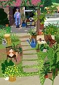 별장 (건설물), 전원생활 (컨셉), 집 (주거건물), 도시저택 (집), 정원, 식물