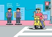 배달 (일), 오토바이 (자동차류), 과속운전 (운전), 배달부, 도로, 난폭운전