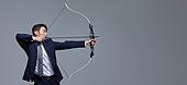 양궁, 스포츠, 시합, 활 (활과화살), 도전 (컨셉), 비즈니스, 비즈니스맨 (사업가), 열정 (컨셉), 위기극복, 자신감