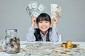어린이 (나이), 경제 (Finance and Economy), 조기교육, 금융, 화폐 (금융아이템), 부귀 (컨셉), 주린이, 미국화폐 (화폐), 지폐