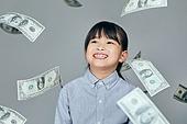 어린이 (나이), 초등학생, 경제 (Finance and Economy), 금융, 화폐 (금융아이템), 화폐, 금융 (Finance and Economy), 부귀 (컨셉), 호기심, 미국화폐 (화폐)