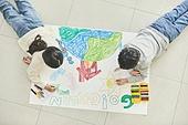 어린이 (나이), 초등학생, 회화기법 (이미지), 크레파스 (필기구), 초등교육, 교육 (주제), 창의성, 환경, 환경보호 (환경)
