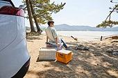 차박캠핑 (캠핑), 캠핑, 숲, 준비, 즐거움 (컨셉), 계절, 자연, 여행, 햇빛 (빛효과), 멀리보기 (응시)