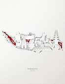 종이 (재료), 페이퍼아트, 지도, 랜드마크, 세계지, 인도네시아 (말레이제도)