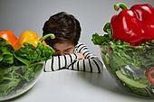 어린이 (나이), 채소, 편식, 건강관리 (주제), 건강식 (Food and Drink), 거부 (정지활동), 샐러드