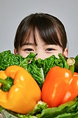 어린이 (나이), 초등학생, 성장, 채소, 편식, 건강식 (Food and Drink), 유기농, 피망, 파프리카, 채식, 채식주의 (채식)