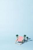 여름, 라운지체어 (야외의자), 야자나무 (열대나무), 카피스페이스 (콤퍼지션)