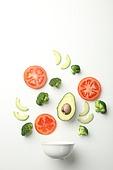 유기농, 프레시 (컨셉), 샐러드, 음식재료