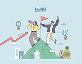 비즈니스,마케팅,일러스트