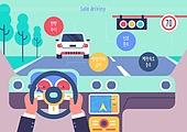 안전, 안전운전, 안전운전 (운전), 캠페인, 과속운전 (운전), 교통법규, 자동차, 자동차핸들 (운송수단부품)