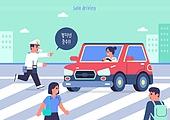 안전, 안전운전, 안전운전 (운전), 캠페인, 과속운전 (운전), 교통법규, 자동차, 경찰, 횡단보도