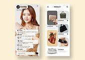 모바일템플릿, 라이브커머스, 쇼핑 (상업활동), 세일 (상업이벤트), 라이브방송, 스마트폰, 댓글, 리얼타임 (Film Speed), 여성 (성별), 핸드백