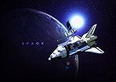 우주 (자연현상), 백그라운드, 미래, 첨단기술 (기술), 6G, 항공우주산업 (산업), 행성, 비행기, 인공위성, 지구 (행성)
