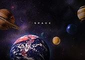 우주 (자연현상), 백그라운드, 미래, 첨단기술 (기술), 6G, 항공우주산업 (산업), 행성, 지구 (행성)