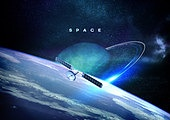 우주 (자연현상), 백그라운드, 미래, 첨단기술 (기술), 6G, 항공우주산업 (산업), 행성, 인공위성, 지구 (행성)