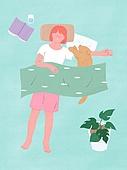 라이프스타일, 반려동물, 반려동물 (길든동물), 애완견 (개), 잠, 휴식