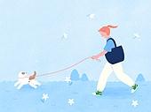 라이프스타일, 반려동물, 반려동물 (길든동물), 애완견 (개), 강아지, 걷기 (물리적활동), 리드줄 (애완동물장비)