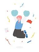 수험생 (학생), 수험생, 학생, 공부, 대학수학능력시험 (시험), 교복, 시험지, 응원, 치어리더 (역할)