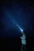 남성, 별 (우주), 여행, 밤 (시간대), 헤드램프 (손전등), 혼자여행 (여행)