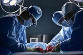출혈, 질병 (건강이상), 상처 (상해), 수술 (치료), 수술실, 수술도구 (의료기기), 의사, 병원 (의료시설), 수술용루페 (광학기기)