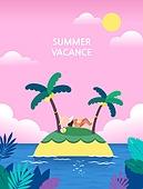 휴가, 여름, 백그라운드 (주제), 풍경 (컨셉), 휴양지, 한명, 여성 (성별), 야자나무 (열대나무)