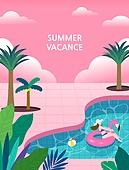 휴가, 여름, 백그라운드 (주제), 풍경 (컨셉), 휴양지, 한명, 여성 (성별), 야자나무 (열대나무), 수영장
