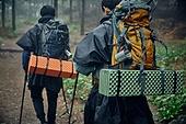 남성 (성별), 오솔길 (보행로), 산림, 여행, 백패커 (여행하기), 하이킹 (아웃도어), 배낭