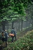 남성 (성별), 오솔길 (보행로), 산림, 여행, 백패커 (여행하기), 하이킹 (아웃도어), 길