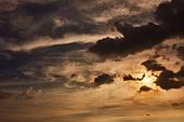 구름, 구름풍경 (구름), 하늘, 태양, 햇빛 (빛효과), 일몰 (땅거미), 확트임 (풍경), 아우라