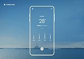 백그라운드, 날씨, 휴대폰 (전화기), 모바일앱 (인터넷)