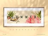 파워포인트, 메인페이지, 백그라운드, 여름, 바다, 액자, 그림자, 빛, 프레임, 인테리어