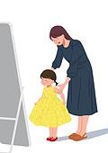 골드키즈 (컨셉), VIB, 아기 (나이), 육아, 부모, 딸, 전신거울