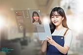 한국인, 지불 (구매), 안면인식기술 (생체인식), 생체인식, 정확 (컨셉), 여성 (성별)