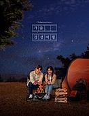 가을, 풍경 (컨셉), 감성, 여행, 밤 (시간대), 별 (우주), 커플, 캠핑, 캠프파이어