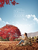 가을, 풍경 (컨셉), 감성, 여행, 여성 (성별), 단풍나무 (낙엽수), 휴식, 소풍, 공원