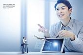 비즈니스, 가상현실 (컨셉), 메타버스, Virtual Reality (Concepts), 비즈니스미팅 (미팅), 비행기, 디지털태블릿 (개인용컴퓨터)