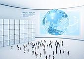 비즈니스, 가상현실 (컨셉), 메타버스, Virtual Reality (Concepts), 지구 (행성), 여러명[10이상] (사람들)