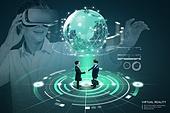 비즈니스, 가상현실 (컨셉), 메타버스, Virtual Reality (Concepts), 스마트글래스, 비즈니스미팅 (미팅)