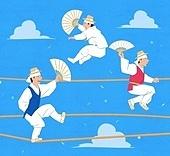 한국전통, 전통문화, 전통문화 (주제), 한복, 무형문화재, 줄타기줄 (밧줄), 부채 (액세서리)