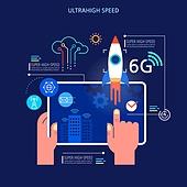 기술 (과학과기술), 4차산업혁명 (산업혁명), 6G, 로켓 (우주선), 디지털태블릿 (개인용컴퓨터)