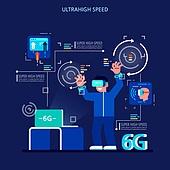 기술 (과학과기술), 4차산업혁명 (산업혁명), 6G, VR기기 (컴퓨터장비), 사람