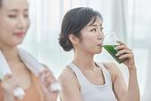 여성, 실내, 건강한생활 (주제), 건강관리 (주제), 운동, 다이어트, 홈트레이닝, 요가 (이완운동), 디톡스