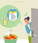 정기배송 (배달), 구독서비스, 스마트폰, 과일
