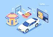 자동차, 카페이 (주제), 피자, 피자가게, 주문 (상업활동)