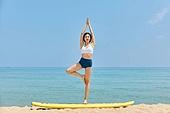 여성, 요가, 균형 (컨셉), 여행지 (여행), 요가 (이완운동)