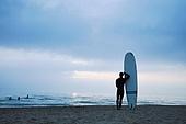서핑, 서핑보드 (수중스포츠장비), 새벽, 일출 (새벽), 여행, 남성