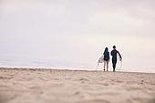 커플 (인간관계), 바다, 해변, 여름, 휴가, 서핑