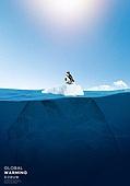 기후변화 (환경오염), 자연재해 (자연현상), 날씨, 환경이슈, 온난화, 빙하, 북극 (북극지방), 펭귄, 수면 (물)